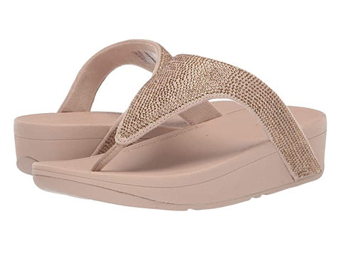 Fitflop Womens Lottie Shimmer Crystal Sandal Gold
