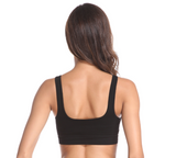 FV Bamboo SPORT BRA - Black and Nude