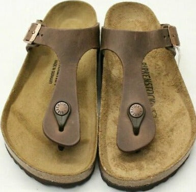 Birkenstock Gizeh BS 0943811 Waxy Leather - Tabacco Brown