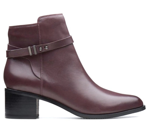 Clarks Womens POISE FREYA 36004 - Aubergine Leather