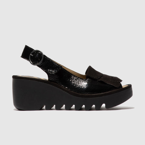 Fly London BIND303Fly Sling Back-  Black