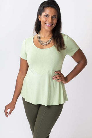 Blue Sky Kim Cap Top - Sage