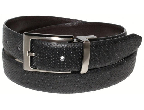 Pin Dot Reversible Belt Black
