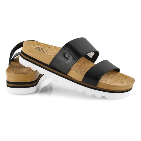 Reef Womens Cushion Bounce Vista Hi Sandals - Black/White