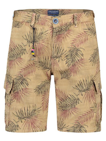 FNF Bermuda Cargo Sand & Leaves Shorts