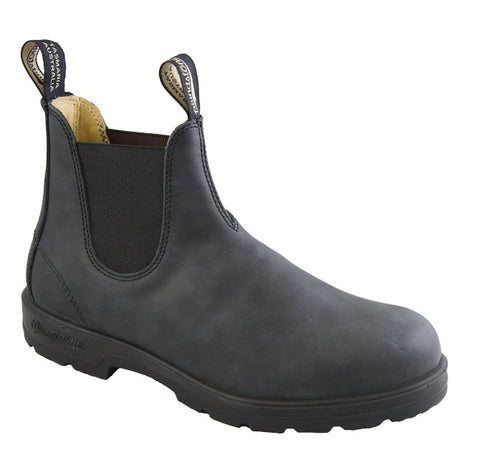 Blundstone 587 Rustic Black Leather Lined