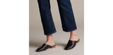 Clarks PURE BLUSH Women's Slip On - Black Leather