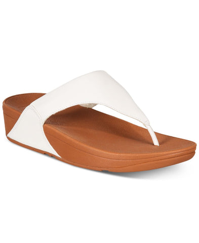 Fitflop Womens LuLu Leather Toepost White