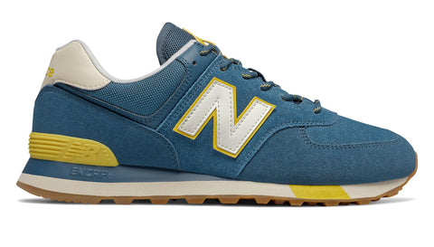 NB Men's ML574JHP Yellow/Blue 2E Wide