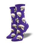 Sacred Skulls Ladies Sock - Purple