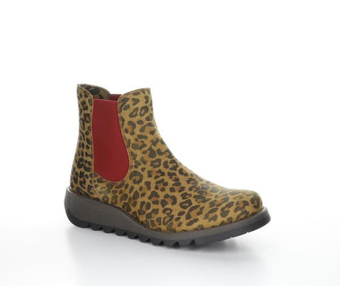 Fly London SALV195FLY Ankle boot - Cheetah Tan Red Elastic