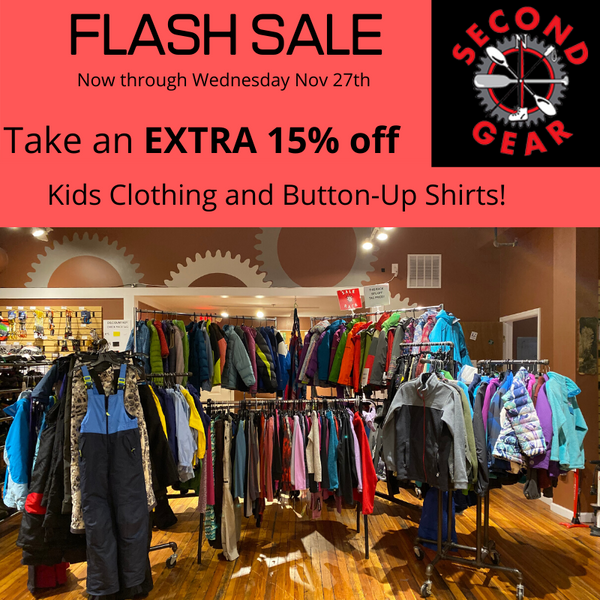 FLASH SALE: Take an EXTRA 15% off all Kids Clothing, Winter Jackets & Button-Up Shirts!