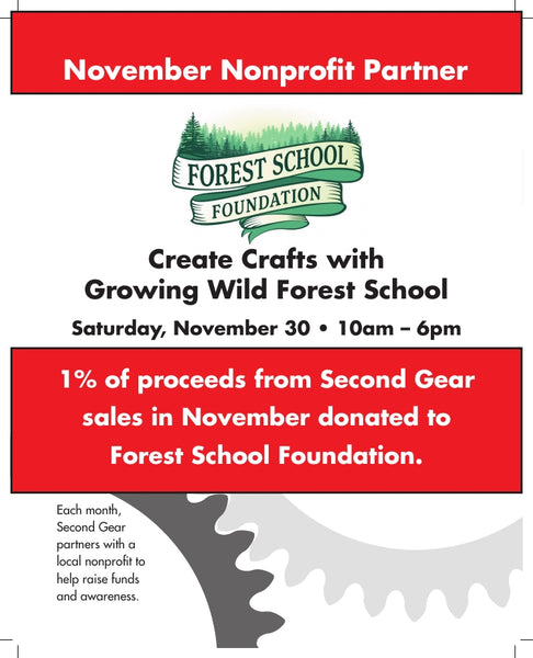 Come Crafting with the Forest School Foundation Saturday, November 30th