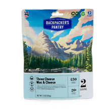 Load image into Gallery viewer, Backpacker's Pantry Three Cheese Mac & Cheese - 2 Servings