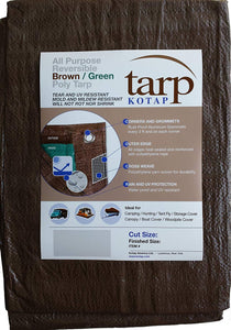 Kotap Reversible Brown/Green Poly Tarp 8'X10'