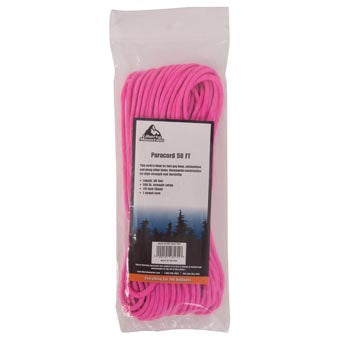 Liberty Mountain Paracord, Pink, 50 ft