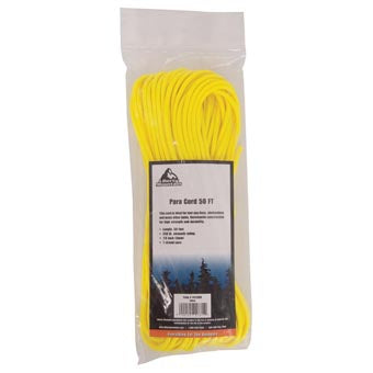 Liberty Mountain Paracord, Yellow 50 Ft