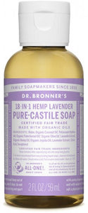Dr. Bronners Hemp Soap, Lavender, 2 oz.