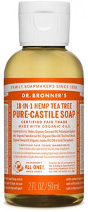 Dr. Bronners Hemp Soap, Tea Tree, 2 oz.