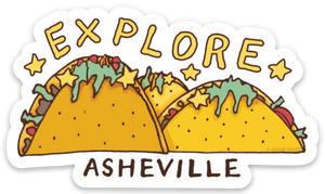 Explore Asheville Tacos Sticker