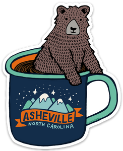 Asheville Bear Cup Sticker