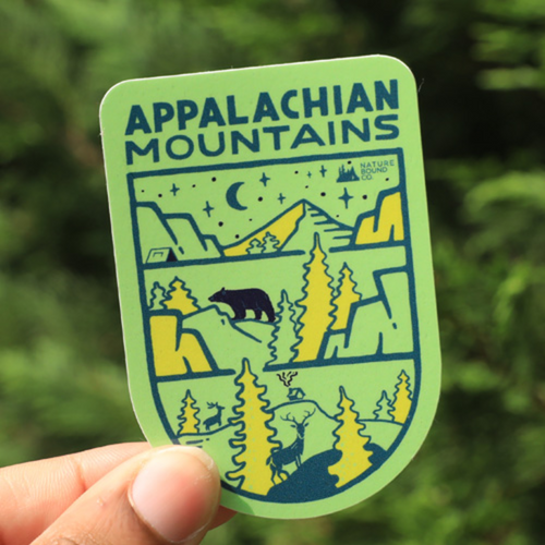 All Terrain Appalachian Mountains Sticker, Green