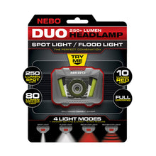 Load image into Gallery viewer, Nebo DUO Headlamp, 250 Lumen