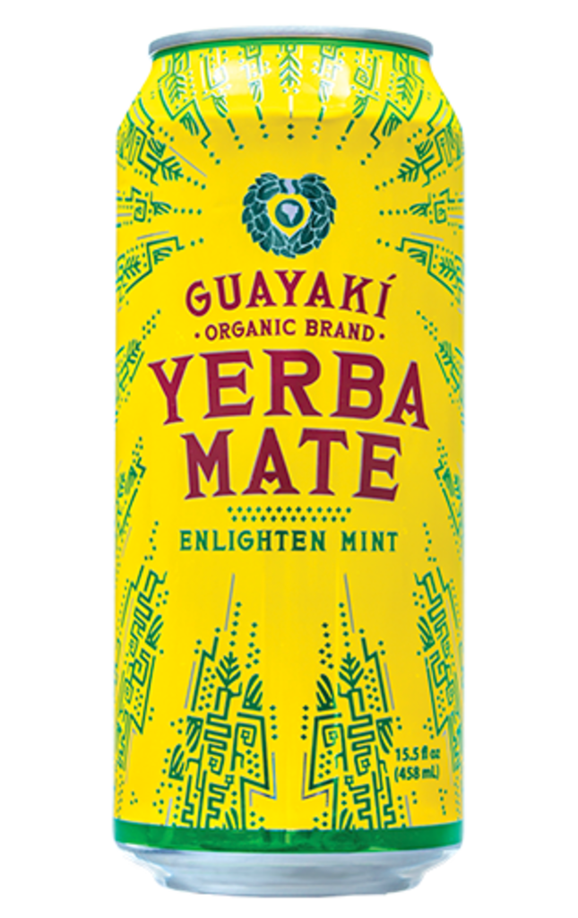 Guayaki Yerba Mate Enlighten Mint, 15.5 oz Can