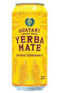 Guayaki Yerba Mate Orange Exuberance, 15.5 oz Can
