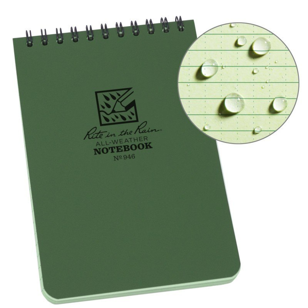 Rite In The Rain Notepad 4 x 6, Green