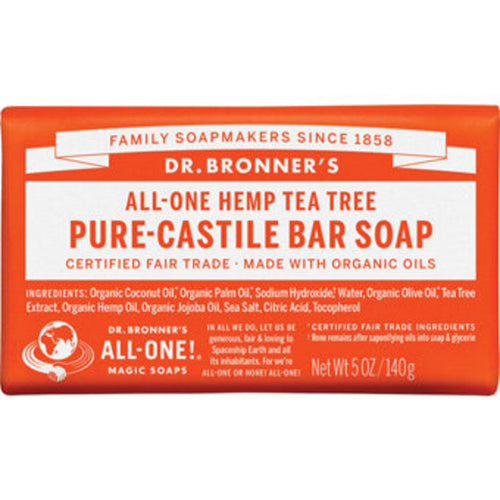Dr Bronners Castile Bar Soap, Tea Tree