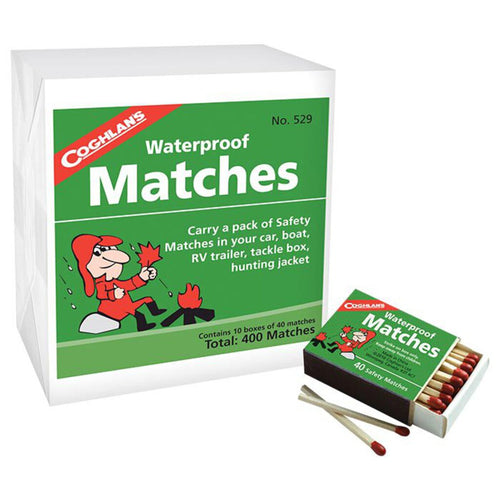 Coghlan's Waterproof Matches, 10 Boxes