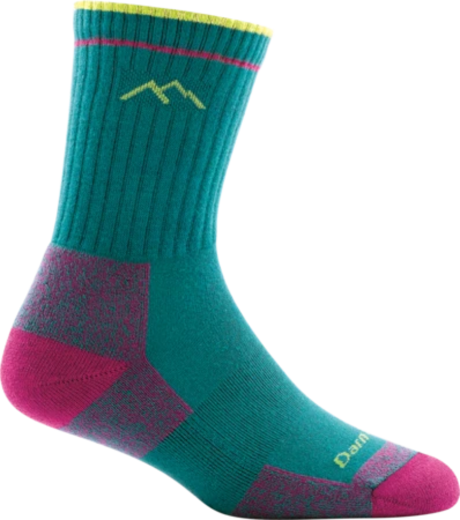 Darn Tough Coolmax Micro Crew Socks, Teal, Womens S / Style 1929
