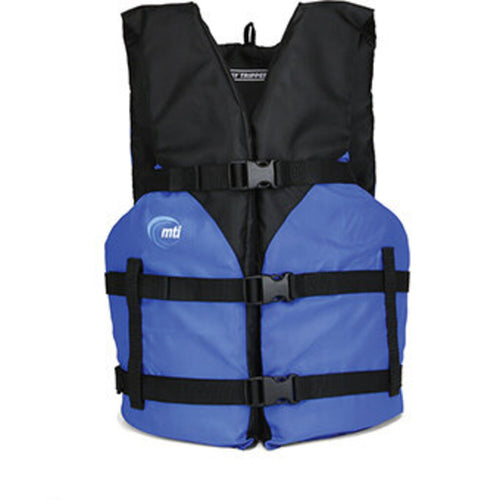MTI Day Tripper PFD Life Vest, Blue, Adult One Size