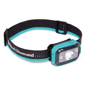 Black Diamond ReVolt 350 Lumen Rechargeable Headlamp, Aqua Blue (w/ AAA Battery Option)