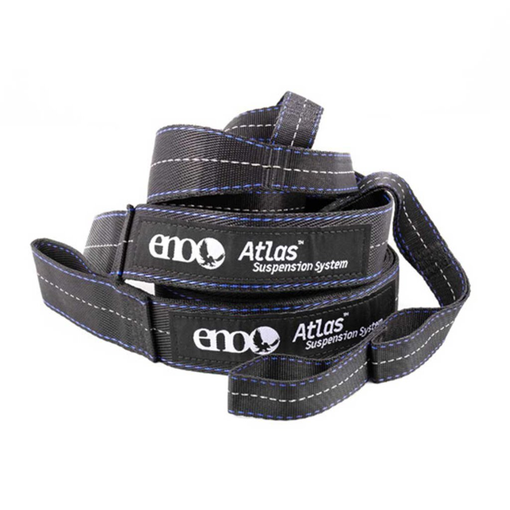 ENO Atlas Hammock Suspension Straps, Black/Royal