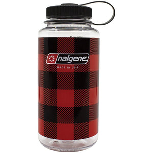 Nalgene Wide Mouth Bottle, Red Plaid, 32oz