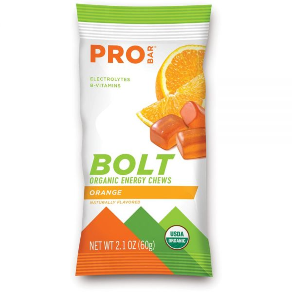 Pro Bar Bolt Organic Energy Chews, Orange 2.1oz Pack