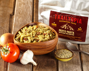 Trailtopia Adventure Food, Pesto Pasta, V
