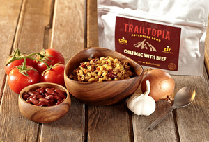 Trailtopia Adventure Food Chili Mac w/ Beef, Serves 2