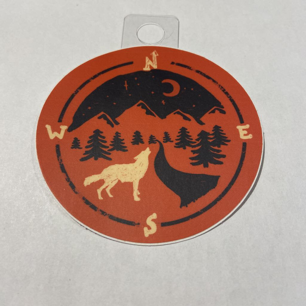 Menottees Wolf Compass, Red