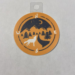 Menottees Wolf Compass, Orange