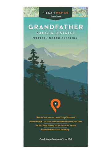 Pisgah Map Company Grandfather Ranger District Map