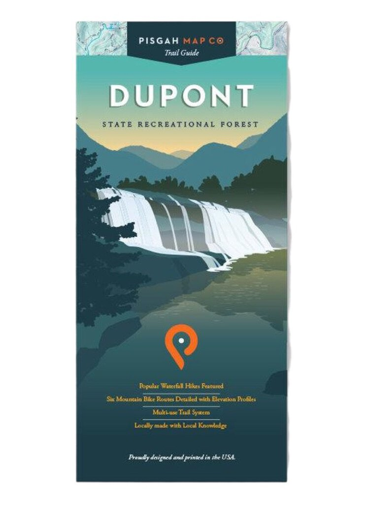 Pisgah Map Company Dupont State Forest Map