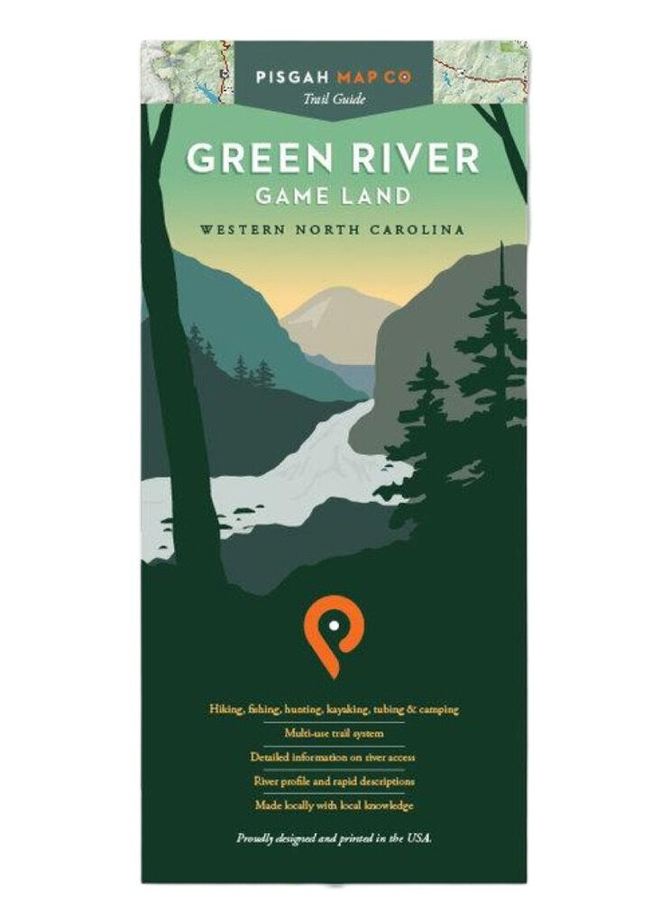 Pisgah Map Company Green River Game Land Map