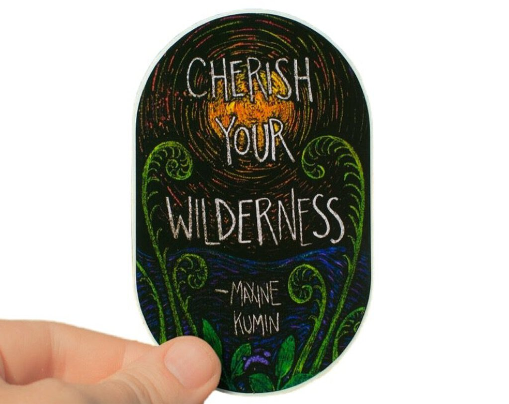 Running Rabbit Art: Cherish Your Wilderness Sticker