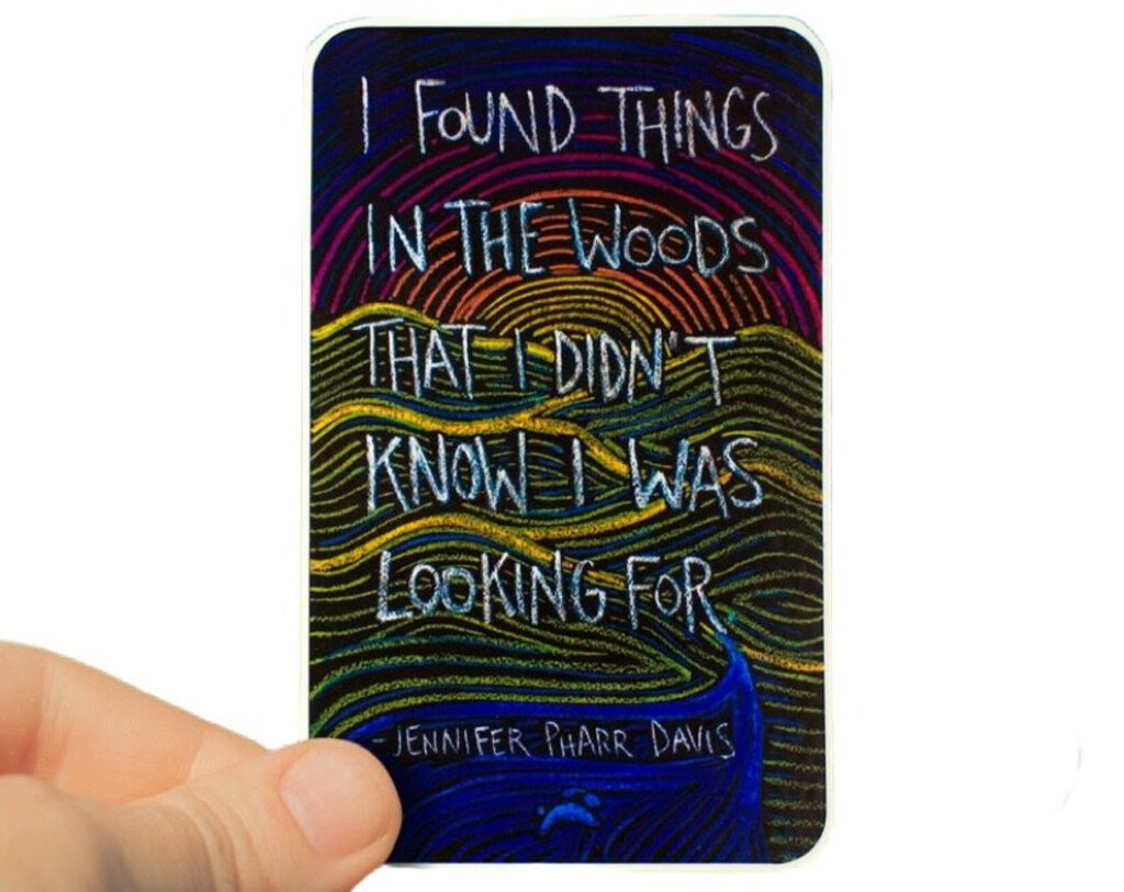 Running Rabbit Art: I Found Things Sticker