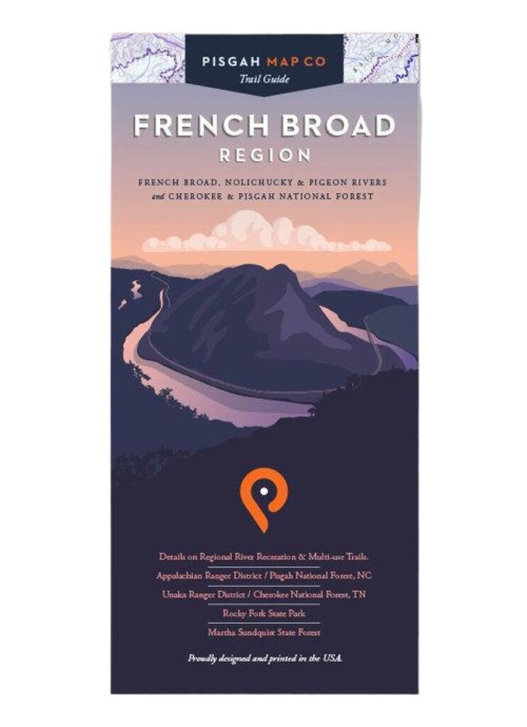 Pisgah Map Company French Broad Region Map
