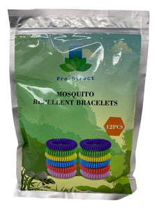 Pro-Direct Mosquito Repellent Bracelets, Multi-color,12 Pack