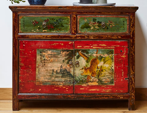 The Hidden Meaning Of Painted Vintage Chinese Furniture Rouge